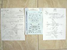 "AV-8B HARRIER ""3USMARINES/VMA-231/331/VX-5"" MICROSCALE DECALS 1/48"