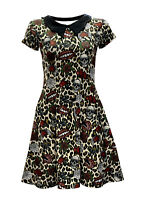 Leopard Hearts Lips Skull Roses Spider Web Collar Rockabilly Dress Alternative