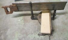 Vintage Stanley Mitre Co. #2358 Cast Iron Base Mitre Saw Henry Disston & Sons