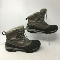 Merrell Womens 9.5 Snowbound Mid Waterproof Snow Boots Grey Leather J55622