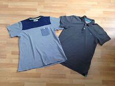 2x Boy's Sonneti Navy Stripe 13-15 Years & Charcoal Grey H&M Polo Top Age 12-14
