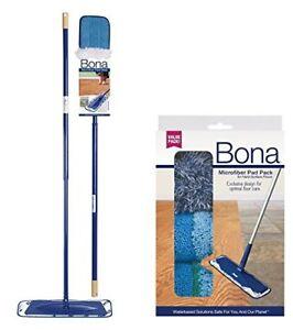 Bona Microfiber Floor Mop 3-Piece Microfiber Pad Pack