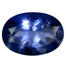 0.60 ct AAA Wonderful Oval Shape (7 x 5 mm) Blue Iolite Natural Loose Gemstone