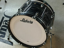 "Ludwig Classic Maple 14x20"" Vintage Black Oyster Bass Drum Kick Display USA"
