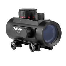 1x30mm Tactical Red Green Dot Riflescope 5Brightness Reflex w/20mm Rail Mount IT