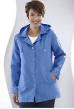 Taille 14 - 16 Bleu Blanc Spot Douche manteau neuf à partir de DAMART
