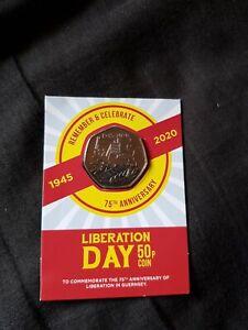 Guernsey Liberation Day 75th Anniversary 50p Coin BUNC RARE