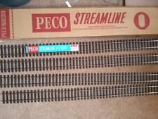 More details for peco 0 gauge 4 pieces of uncut  streamline track sl-700 wooden sleeper flat btm