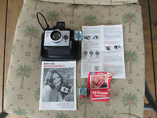 Vintage Polaroid Black Square Shooter 2 land Camera Picture Photography>L@@K