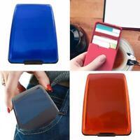 7 Color Aluminum Alloy Card Holder Antimagnetic Credit Card Case Portable Card