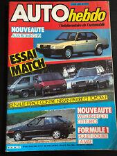 AUTO HEBDO N°426 JUIN 1984 GP F1 USA NISSAN PRAIRIE ESPACE MITSU COLT ALFA 90