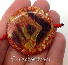 Very exquisite dragon veins agate bead heavily blood-veined