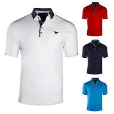 Herren Poloshirt Kontrast Kragen Kurzarm Polohemd T-Shirt Baumwolle