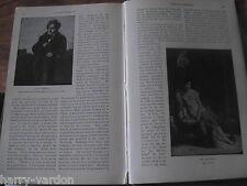 François-René vicomte de Chateaubriand Author Literature 1902 Rare Old Article