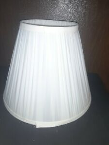 "White Pleated Fabric Lamp Shade 12"" x9 x 6"""