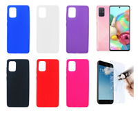 "Case Cover Gel TPU Silicone For Samsung Galaxy A71 4G 6.7"" + Optional Protector"