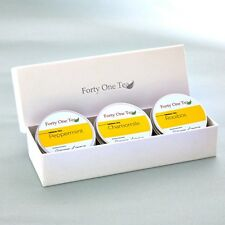 Luxury Peppermint, Chamomile, Rooibos Loose Leaf Herbal Tea Gift Set.
