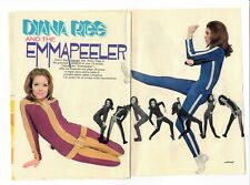 1967 TV article Emma Peel Diana Rigg The Avengers 4 pages