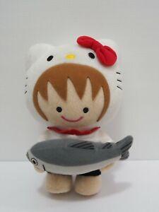"TM Revolution X Sanrio Hello Kitty Shiga Thabo Tabo Kun Plush 8"" Toy Doll japan"