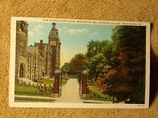 Vintage Postcard New Entrance And Plaza, Washington & Jefferson College, Pa.