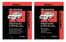 2001 Toyota 4-Runner Shop Service Repair Manual Book Engine Drivetrain OEM