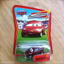 Disney PIXAR Cars ANDREA Race O Rama World of Cars diecast #89 BOOM MIC PRESS