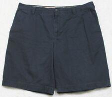 "Blue Dress Shorts Solid XL 38"" X 10.5"" Flat Front Cotton Men XL Izod Extra Large"