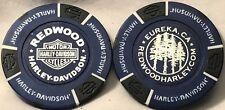 Redwood Harley-Davidson® in Eureka, CA Collector Poker Chip Black/Blue NEW