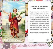 Oracion al Glorioso San Pancracio - Spanish  - Paperstock Holy Card