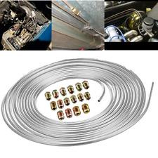 Iron Zinc Nickel Brake Line Tubing Kit 3/16 OD 25 Foot Coil Roll w/Fittings