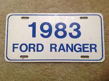 Vintage license plate 1983 Ford Ranger Truck Dealer Aluminum Vanity Tag