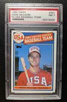 1985 TOPPS 401 MARK McGWIRE OLYMPIC TEAM USA ROOKIE CARD OAKLAND ATHLETICS PSA 7