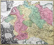 GEWÄSSERKARTE HYDROGRAPHIA GERMANIAE ZOLLMANN DEUTSCHLAND EUROPA HOMANN 1712