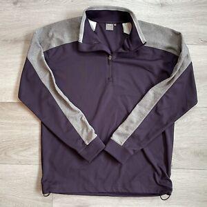 Ping 1/4 Zip Pullover Size Medium Mens Purple Grey Golf Sensor Warm