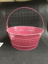 "New Dover M705Bw Burgandy Metal Tub Can Pail Bucket With Handle 11"" X 5"""