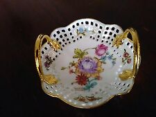 """Marlene Seevars Decorative Vintage Small Dipping Bowl D 4"""" Hand Painted"""