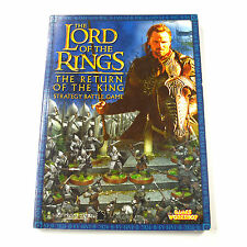 LOTR Strategy battle game The return of the king Used VG GW Book rulebook