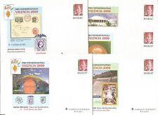 Sobre Entero Postal Edifil # 58 a/e VALENCIA 2000 5 diferentes completa