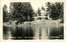 """Blue Heron's Wing"" Red Feather Camp, Manitowish WI RPPC 1938"