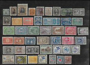 Honduras 1865 - 1965  Lot of 47 Used and Mint Stamps
