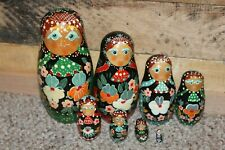 Eight Beautifully Colored Nesting Dolls Made In China 7 In To 3/4 In Height