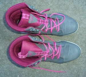 Women's gray purple Ryka quilted high top sneakers shoes size 10 W