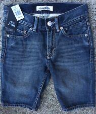 BNWT BOYS MENS Quiksilver Sequel Vintage Blue Denim Shorts Size US25 EU Aus10 S