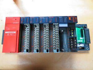 Mitsubishi Melsec PLC A1S61PN, A1SY10EU x 4, A1SX41, A1SJ71UC24-R4