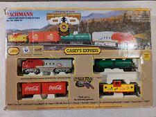 BACHMANN Casey's Express train set knuckle couplers ez track oval coca cola