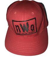 Rare Vintage 90s  NWO WCW NEW WORLD ORDER Red Snapback Hat USA Made Wrestling