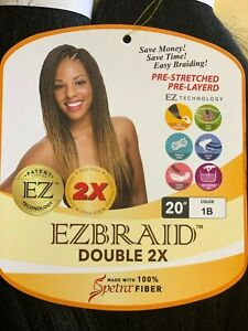 "Ez Braid 100% Spetra Fiber 20""inches DOUBLE BUNDLE Pre-stretched Pre-Layered"