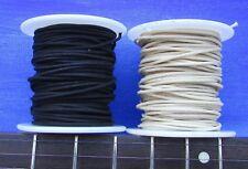 GAVITT tinned Cloth Push Back Guitar Wire 22 awg 100 FEET = 50 BLACK & 50 WHITE