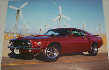 1969 Ford Mustang Fastback car print (red)