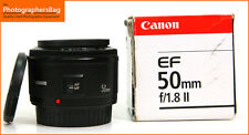 Canon EF 50mm F1.8 II Autofocus Lens for EOS SLRs +  Free UK Postage